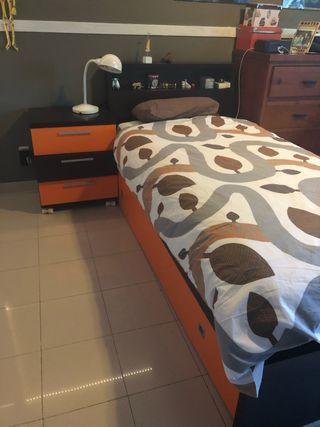 Dormitorio juvenil 2 camas