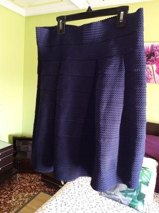 Falda cintura alta elastica