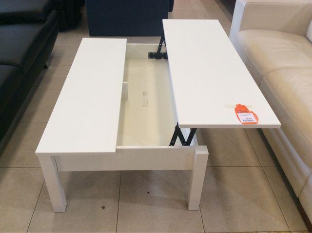Mesa blanca centro abatible