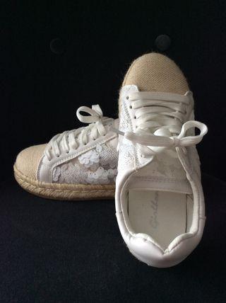Alpargatas/ zapatillas planas con lentejuelas