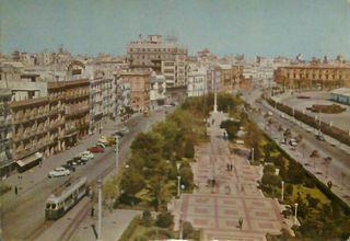 Postales antiguas Bahía de Cádiz, Sevilla, Madrid