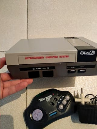 "Consola nes compatible ""space entertainmet system"""