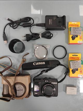 Canon PowerShot G16 + tubo LA-58G15 + lente macro