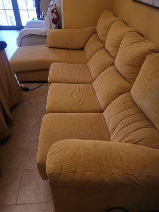 Sofa con tela antimanchas de 2'80m