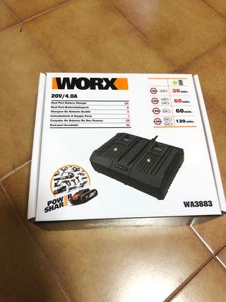 Cargador doble bateria WORX