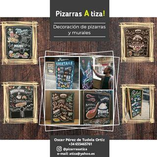 DECORACIÓN PIZARRAS, MURALES, CARTELES..