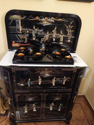 mueble bar laca china