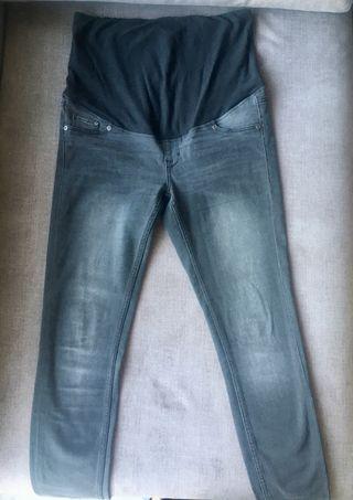 Pantalón tejano gris oscuro premama embarazada T40