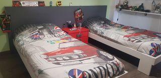 habitación juvenil dos camas