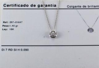 CADENA CON COLGANTE ORO 18K BRILLANTES