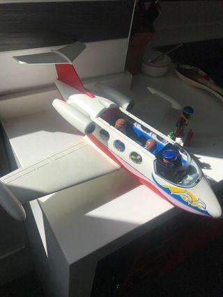Avión playmobil + azafata