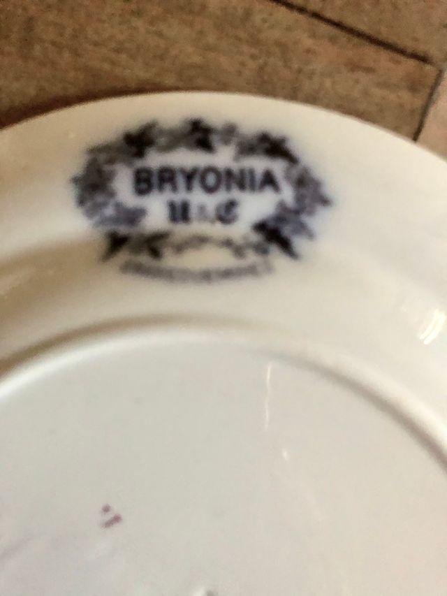 """juego de 5 platos, 4 platos Sarreguemines """"Bryonia"""