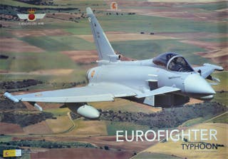 PÓSTER AVIÓN EUROFIGHTER TYPHOON.