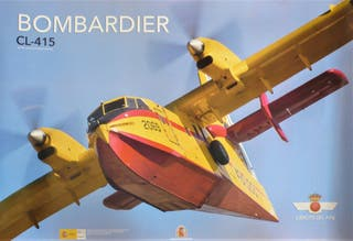 POSTER AVIÓN BOMBARDIER CL415. 66X46,5 CENT.