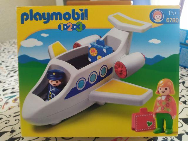 playmobil 1.2.3 avión de pasajeros