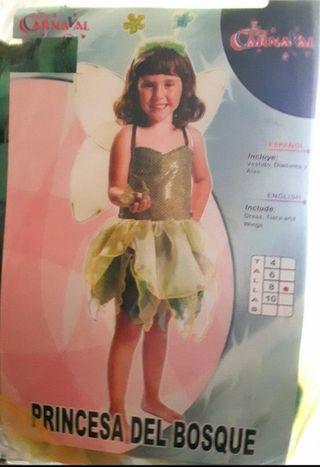 Disfraz Princesa del bosque, ninfa, elfa