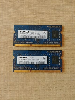 Memoria RAM Apple 4Gb Elpida 2x2Gb DDR3