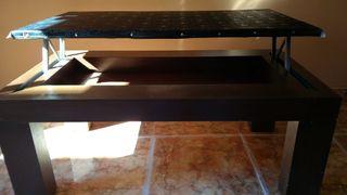 mesa de salón color marrón