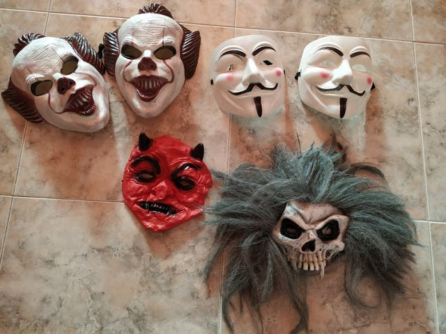 caretas carnaval miedo