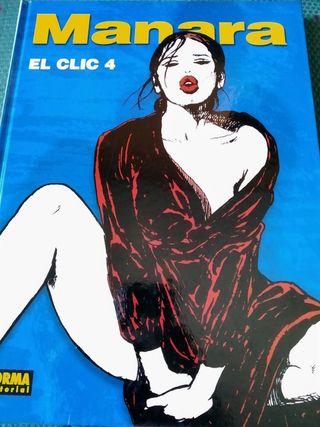 Tomo El Clic 4, de Milo Manara. Tapa dura, a color