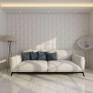 Panel mural 3D cuadrado 24 paneles 6 m 0,5 m x