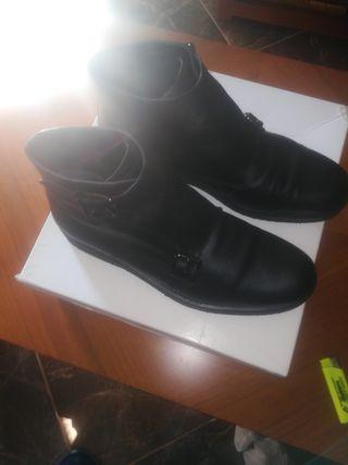 botines de hombre de piel