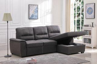 Sofá-cama chaise-longue con Arcón [NEW Farrar]