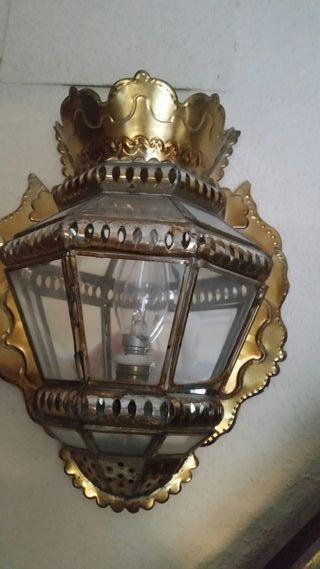 conjunto de 2 farolillos espejo y farol grande .