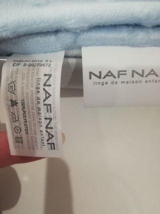Manta bebé NUEVA NAF NAF 100 %poliéster 80x110