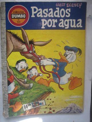 comic colección Dumbo 121 pasados por agua Donald