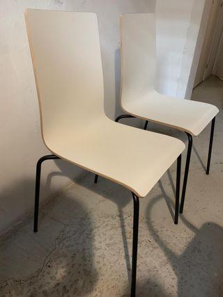 Silla de madera IKEA Martin blanco