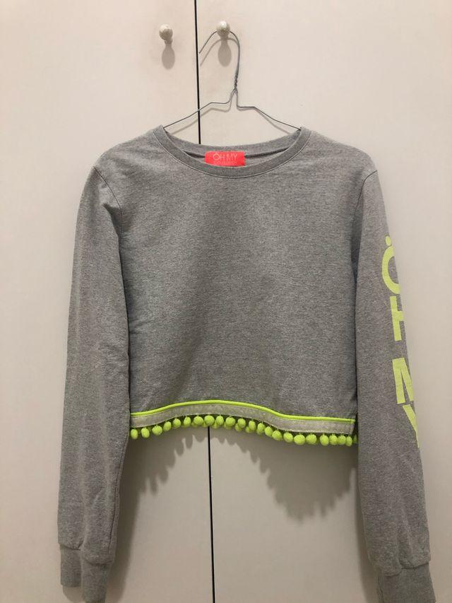 Sudadera gris sin capucha XS