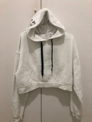 Sudadera blanca con capucha S