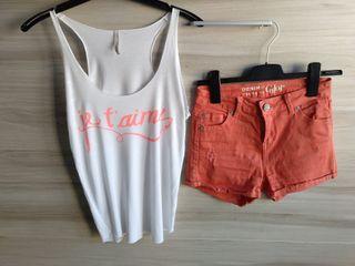 short y camiseta mujer