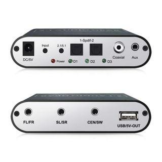 SPDIF/Coaxial Dolby AC3 DTS a 5.1CH Audio analógic