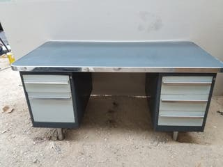old classic metal office desk
