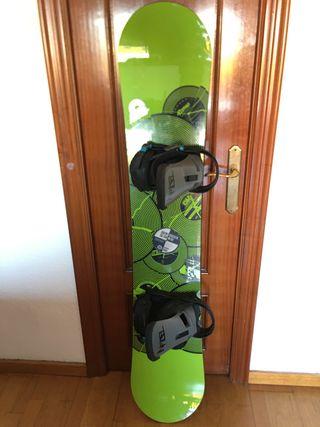 Tabla snowboard Rome + fijaciones Burton