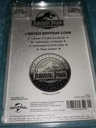 Moneda jurassic Park 25th aniversario
