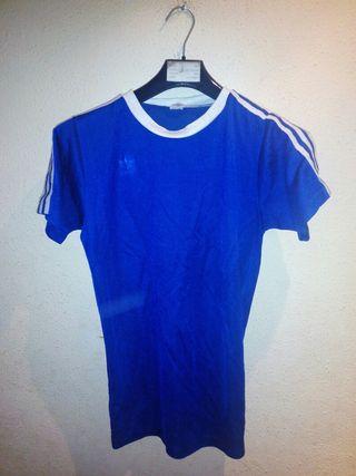 camiseta fútbol adidas años 80