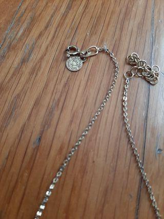 """Collar de plata bañada en oro inicial """"A"""""""
