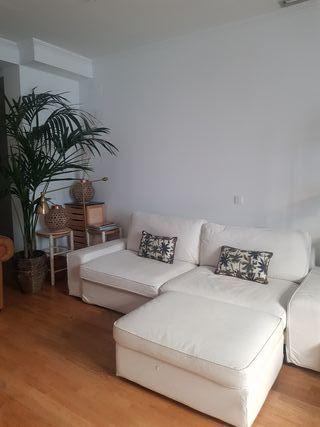 sofa cama+reposapies almacenaje blanco