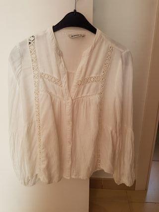 camisa blanca manga globo