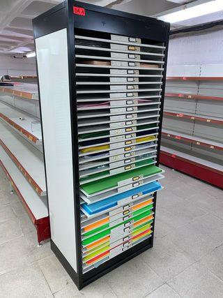 Expositor de cartulinas metalico , disponibles 3