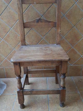 sillas madera rústica