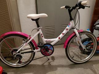 Bicicleta niña 20 pulgadas.