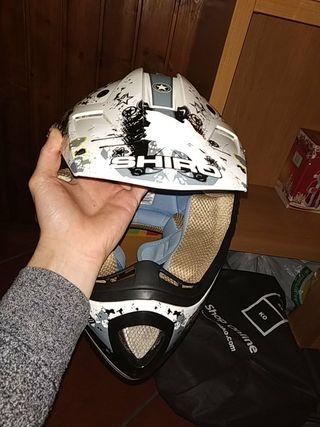 casco de moto cross