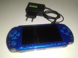 PSP Slim azul(con cargador original)