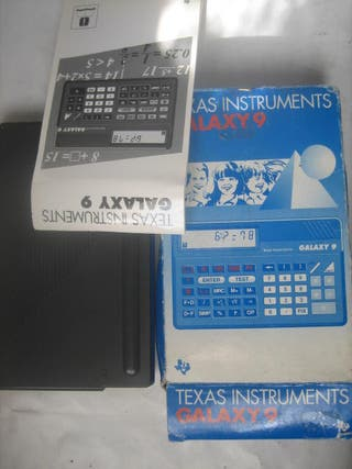 calculadora Texas Instruments Galaxy 9 caja