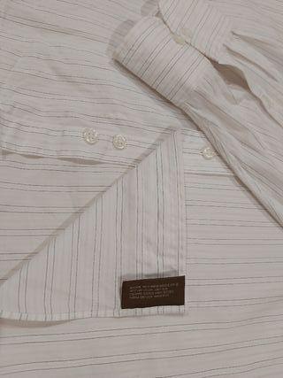 Camisa caballero manga larga. Talla 56