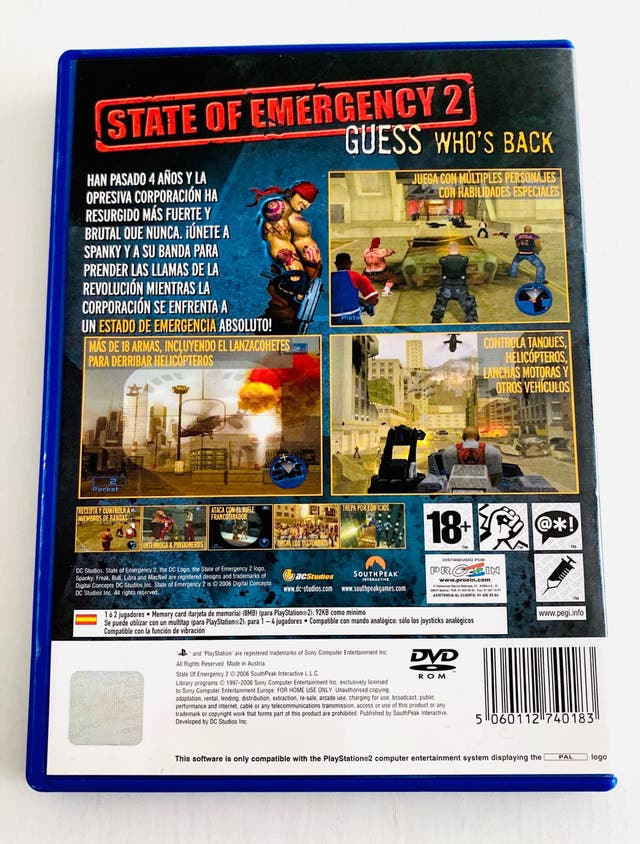 STATE OF EMERGENCY 2 - ps2